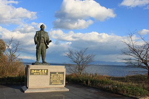 滋賀県の偉人 琵琶湖の洪水から守った「藤本太郎兵衛の像」
