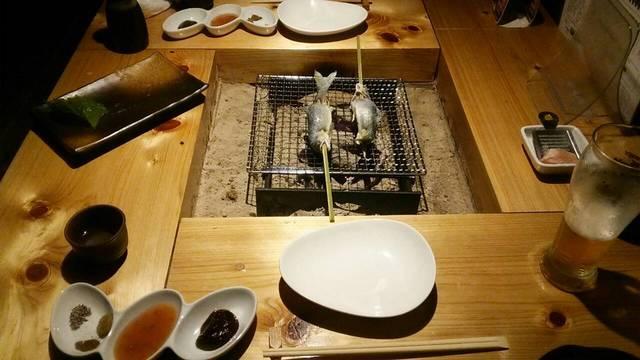 サムライダイニング炉の岩魚