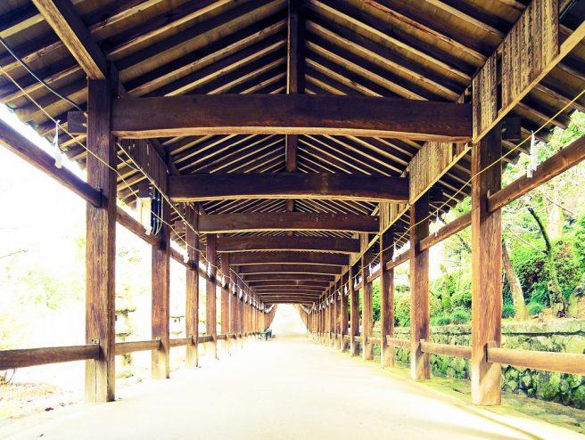 吉備津神社 398mの長い回廊