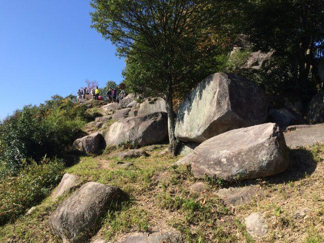 銀山城頂上館跡