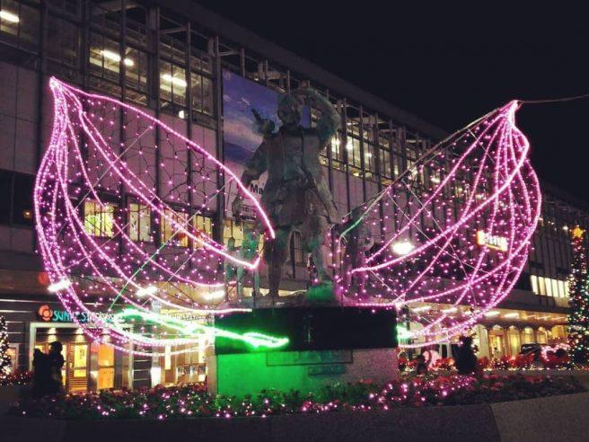 岡山駅前広場 イルミネーション