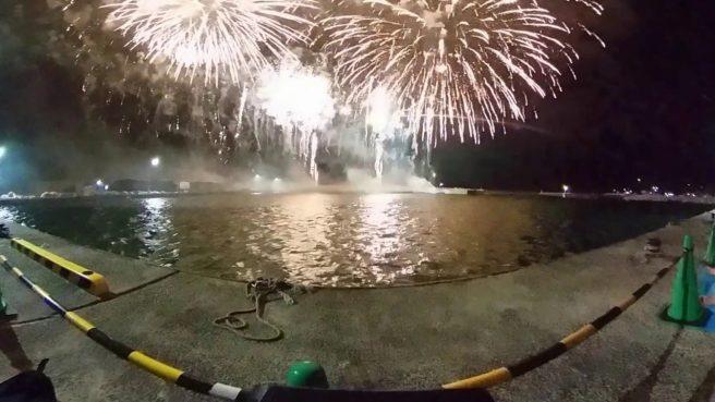 泊新港 花火大会 夏祭り