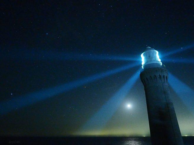 角島灯台 星