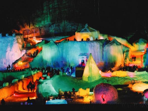 層雲峡氷爆祭り(上川郡上川町)