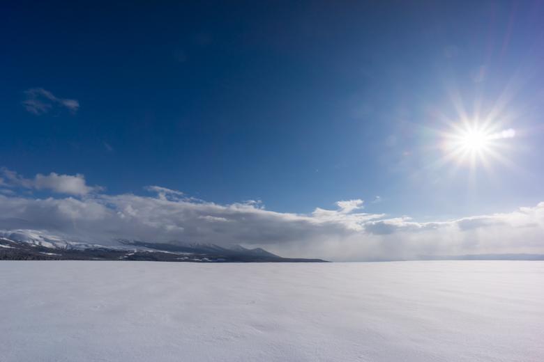美瑛の大雪原
