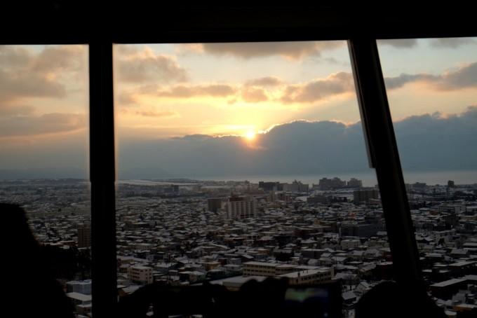 北海道 初日の出 五稜郭タワー展望台