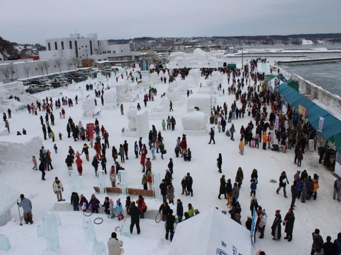網走観光スポット あばしりオホーツク流氷まつり