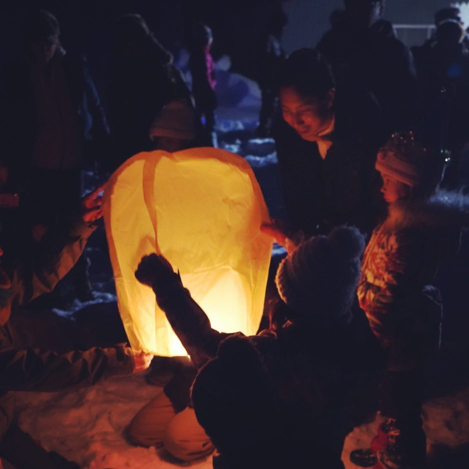 雪景色のランタンフェスティバル
