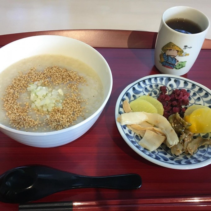 札幌 朝食 白鹿食堂 朝粥