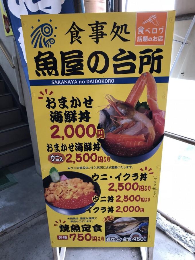 札幌 朝食 魚屋の台所