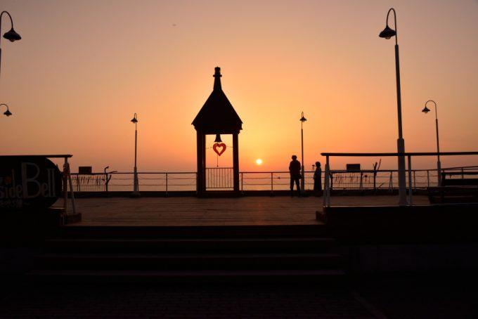 寺泊の夕日スポット