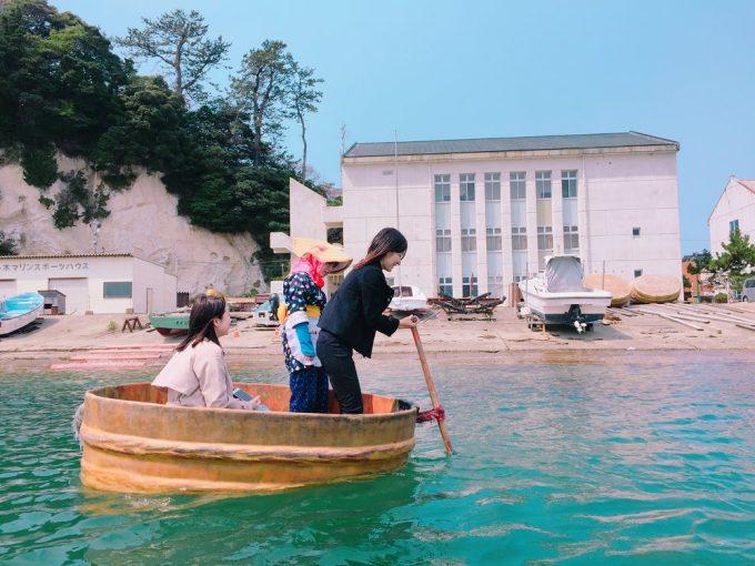 観光たらい舟