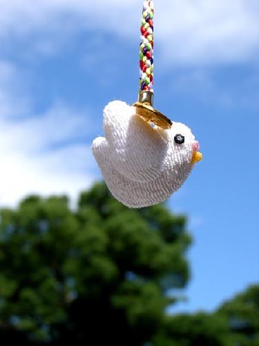 石清水八幡宮の幸運はこぶ鳩まもり