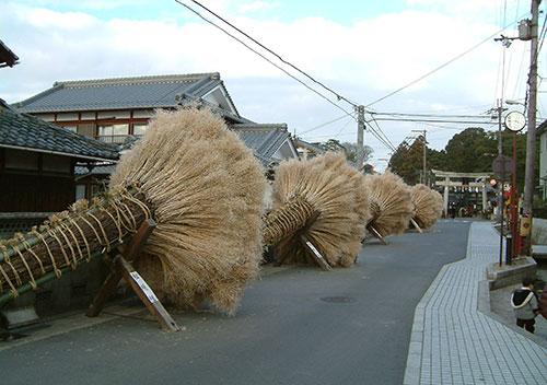 冬の滋賀県 守山の火の祭典「勝部の火祭り」