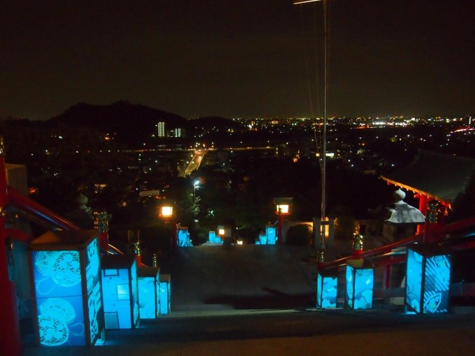 織姫神社のライトアップ