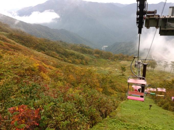 谷川岳リフト 紅葉