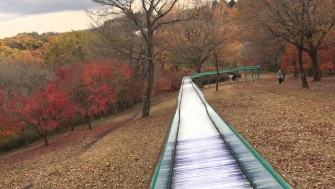 茨城 北山公園 ローラー滑り台