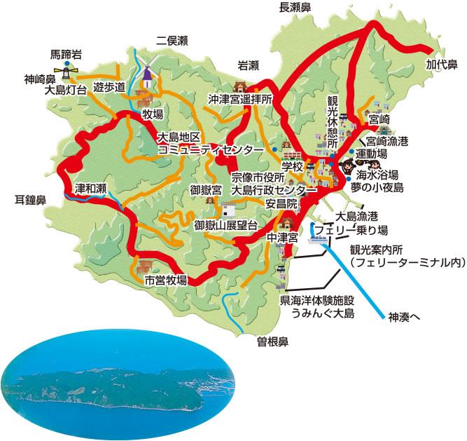 福岡離島 大島地図