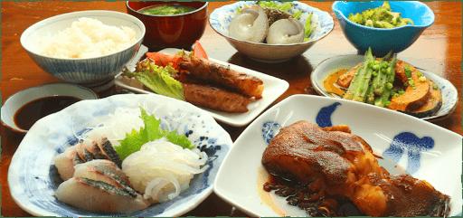 民宿あづま料理
