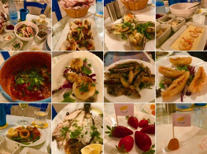 キプロス魚のおまかせコース