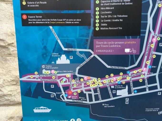 ケベック地図