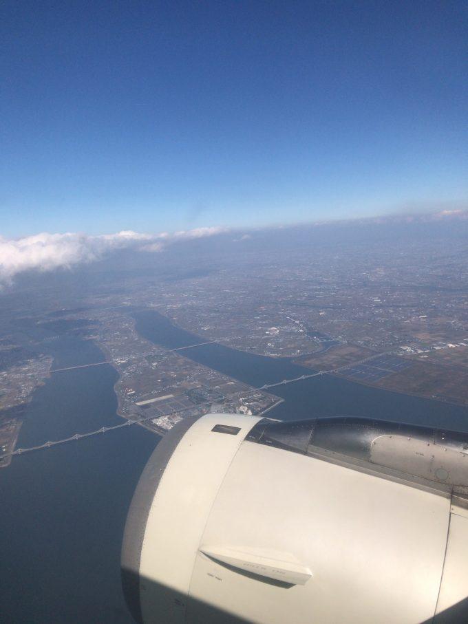 飛行機から撮った景色