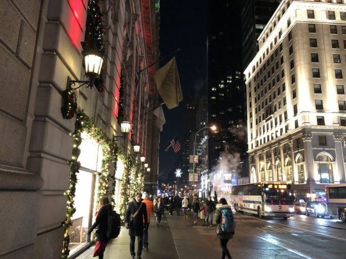 NY街並み夜景