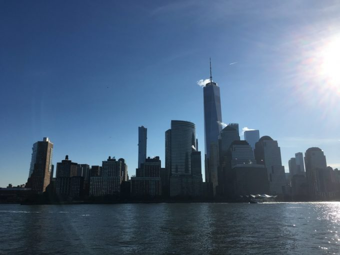 Statue of Liberty 船の上