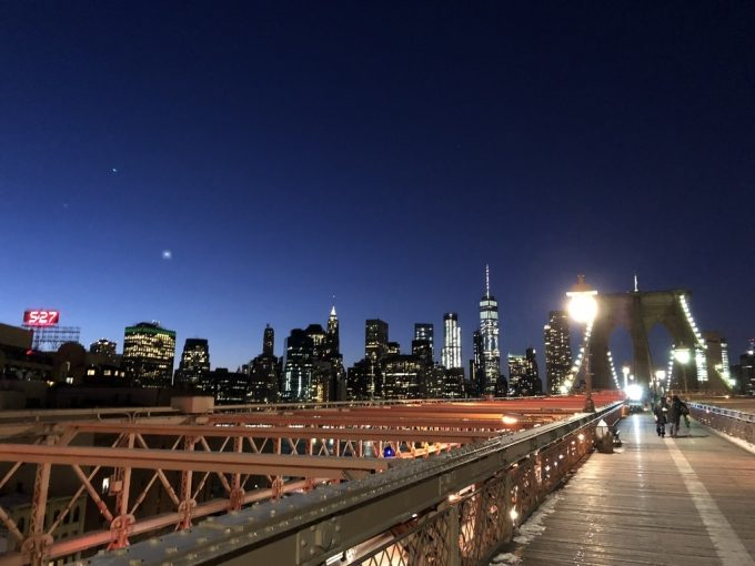 Brooklyn Bridge夜景2