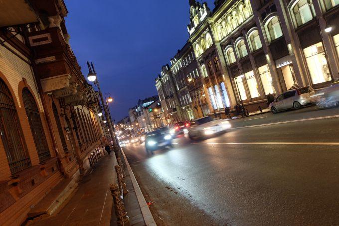 ウラジオストク夜の街並み