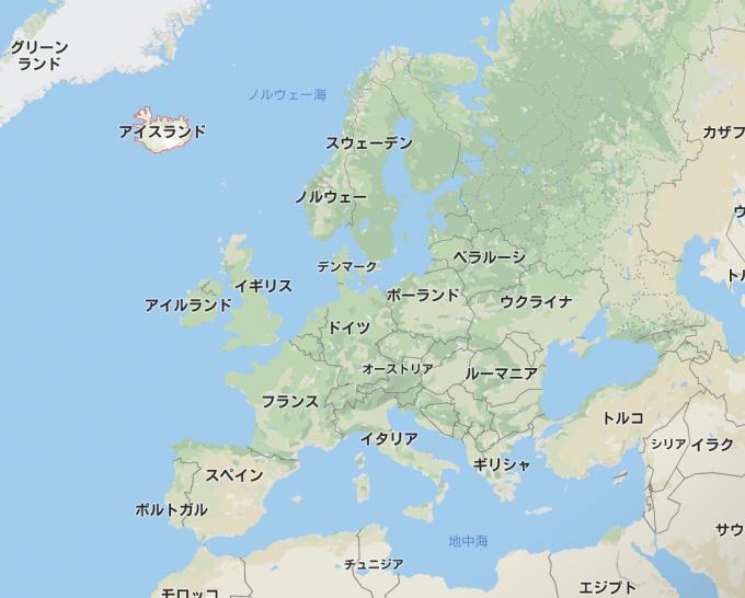 アイスランド 地図