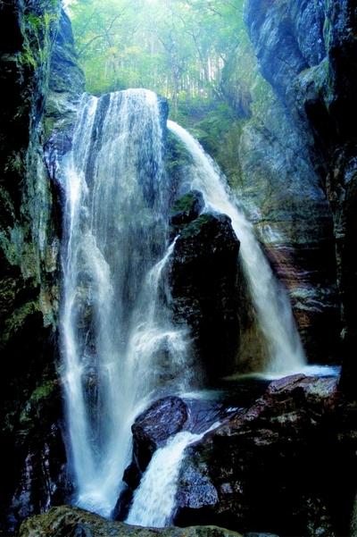 神秘的な雰囲気の「中津渓谷」からスタート