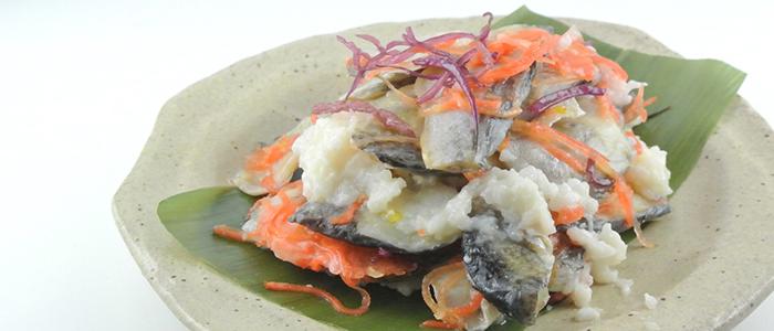 秋田の名産ハタハタが使用された「ハタハタ寿司」