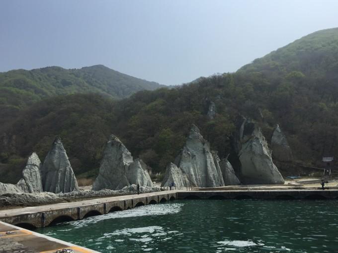 仏ヶ浦の船発着所