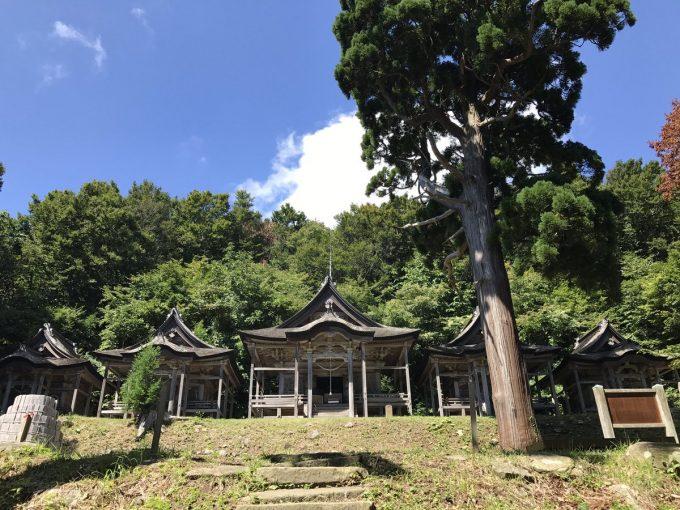 秋田 パワースポット赤神神社五社堂