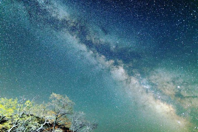 十和田湖 星