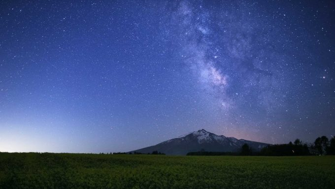 岩木山展望所 星