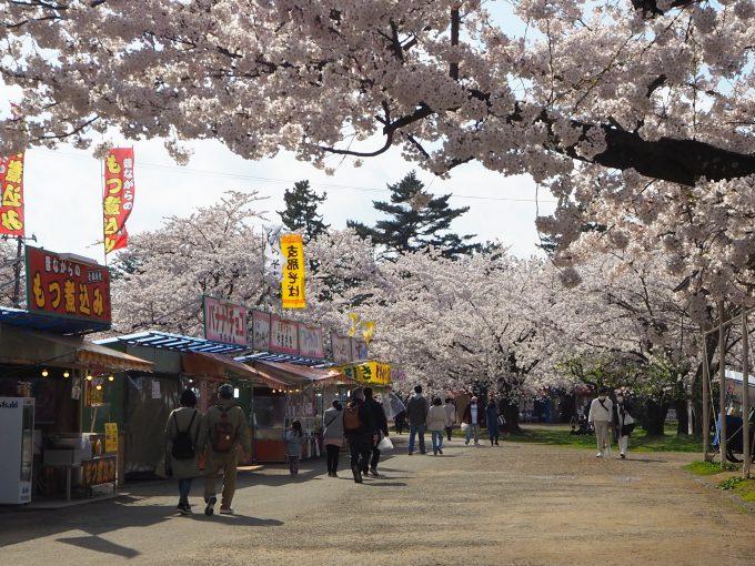 弘前公園 露天 出店