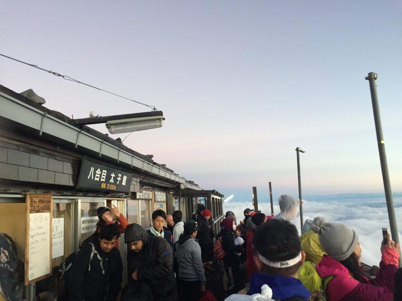 富士山吉田ルート7合目〜8合目