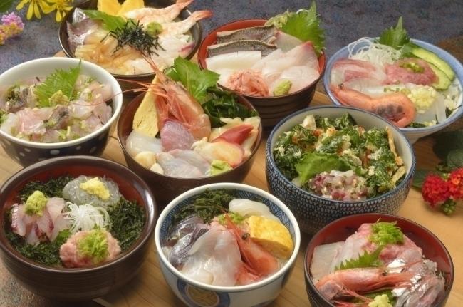伊豆 食堂街 海鮮丼ランチ