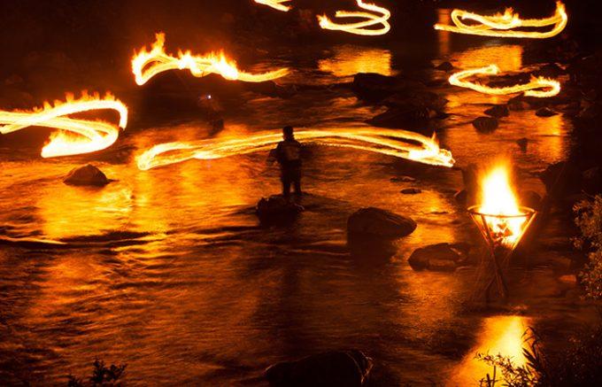 清流馬瀬川火ぶり漁