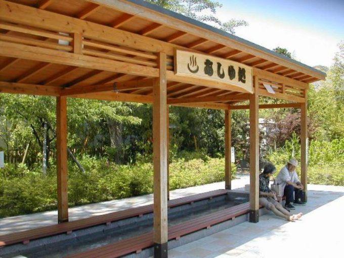 峰温泉大噴湯公園の足湯