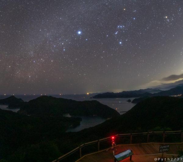 ハート型の入り江と満天の星を眺められる鵜倉園地