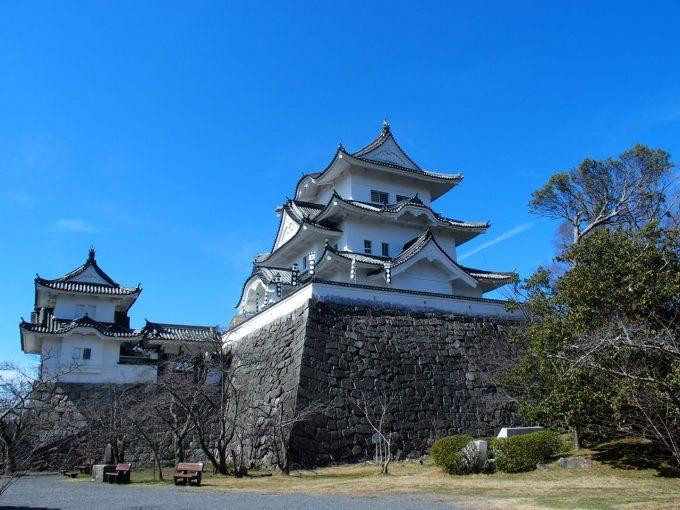 伊賀上野城のライトアップ